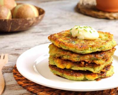 High Protein Zucchini & Corn Patty Recipe