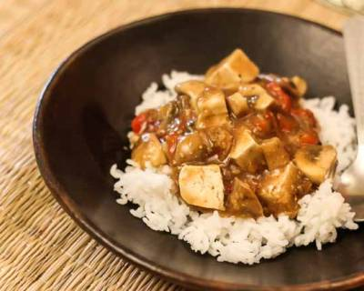 Tofu and Mushroom Curry Recipe (in Ginger Mustard Sauce)