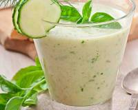 Afghani Dhoog Recipe - Cucumber Mint Buttermilk/ Chaas