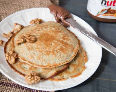 Pearl Millet Pancake With Walnuts & Nutella (Bajra Millet)