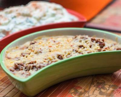 Mexican Cheesy Chilli Bean Dip Recipe - Refried Bean Dip Recipe