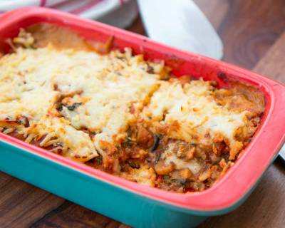 Vegetarian Moussaka with Mushrooms Sauce Recipe
