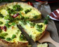 Broccoli Quiche Recipe (with Eggless option)