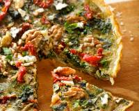 Kale Blue Cheese And Cranberry Quiche Recipe