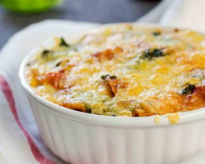 Baked Pasta Recipe with Paneer and Spinach