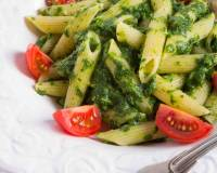 Penne Pasta Recipe in Spinach Basil Pesto Sauce