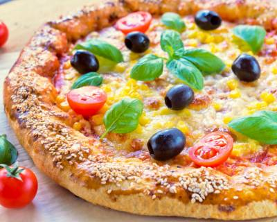 Pizza With Soy And Corn Recipe
