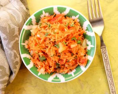 Carrot Cucumber Tomato Salad with Lemon and Coriander Recipe