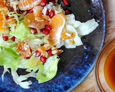 Orange And Pomegranate Salad Recipe With Candied Almonds
