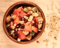 Papaya Orange Pomegranate Salad Recipe With Roasted Peanuts
