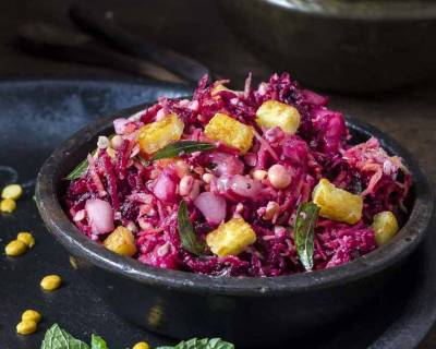 South Indian Kosambari Recipe With Raw Mango, Cucumber, Carrot & Beetroot