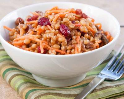 Wheat Berry Salad With Cranberries & Carrots Recipe