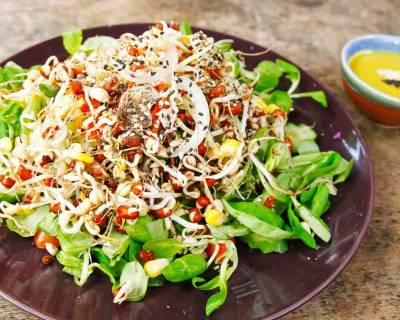 Asian Style Bean Sprout & Corn Salad Recipe