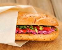 Homemade Healthy Subway Sandwich Recipe With Beet & Sprout
