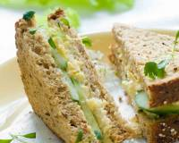 Scrambled Egg Sandwich Recipe With Cucumber