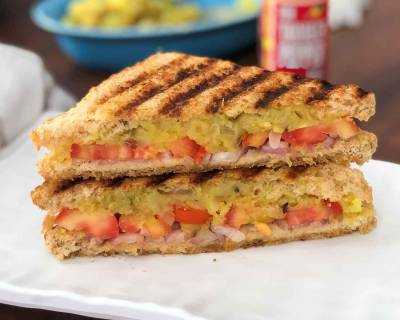 Grilled Spicy Potato Sandwich Recipe