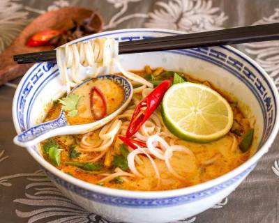 Noodle Soup Recipe with Vegetables