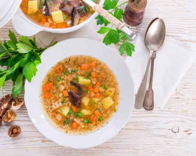 Pearl Barley Vegetable Soup Recipe