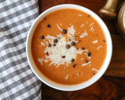 Roasted Carrot Tomato Soup Recipe