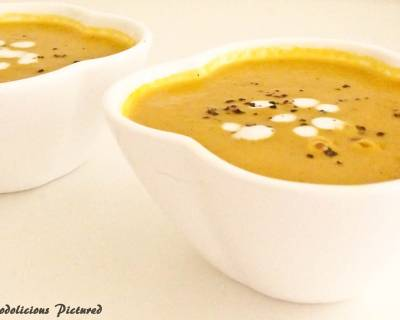 Spiced Carrot And Onion Soup Recipe