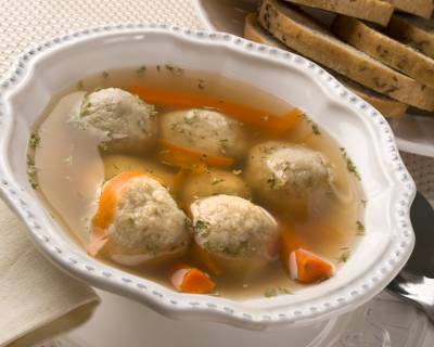 Vegetarian Tofu Matzo Ball Soup Recipe