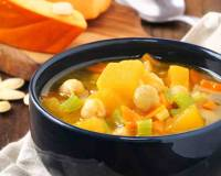 Vegetarian Pumpkin And Chickpea Soup Recipe