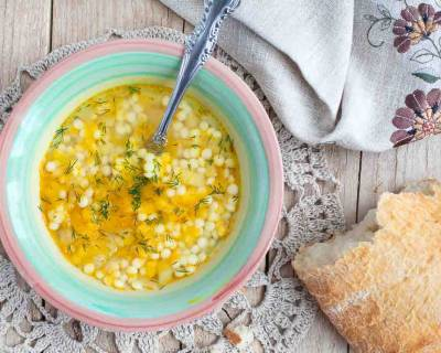 Israeli Couscous Minestrone Soup Recipe