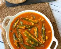 Paneer Stuffed Bhindi In Ajwain Tomato Gravy Recipe