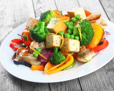 Smoked Tofu And Grilled Vegetable Salad Recipe