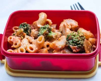 Vegetable Pasta in Tomato Basil Sauce | Kids Lunch Box Recipes