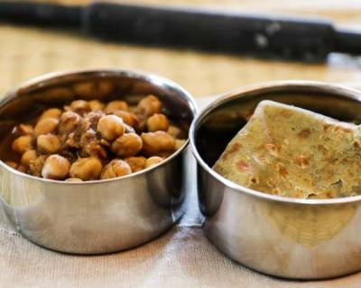 Chana Masala & Puri | Kids Lunch Box Recipes