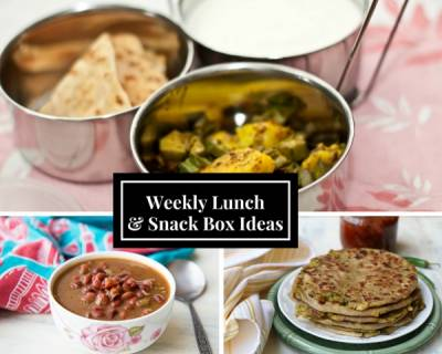 Weekly Lunch Box Recipes & Ideas from Idli Upma, Aloo Paratha, Rajma Chawal and More