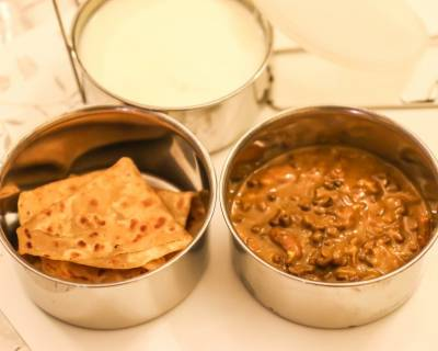 Dal Makhani & Paratha (Kids School Lunch Box Ideas)
