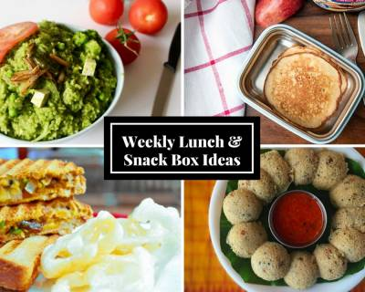 Weekly Lunch Box Recipes & Ideas from Mixed Sprouts Coriander Dosa With Idli Dosa Batter, Masala Akki Roti, Grilled Rajma Masala Sandwich & More