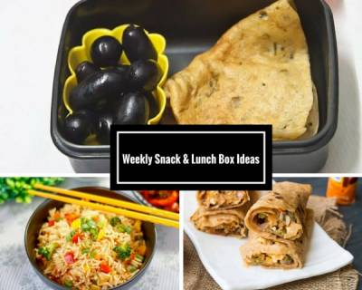 Weekly Snack & Lunch Box Ideas - From Moong Dal Palak Cheela, Oats Rava Dhokla to Pav Bhaji & More