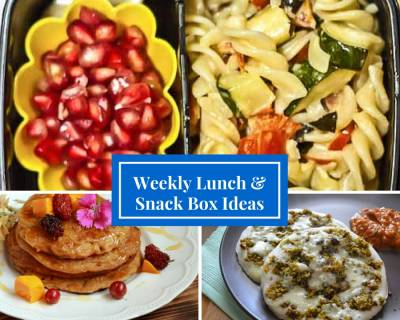 Weekly Lunch Box Recipes & Ideas from Spinach Coriander Dosa, Gajar Paratha, Fruit Sandwich & More