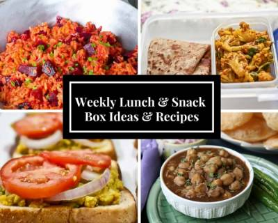 Weekly Lunch Box Recipes & Ideas from Thepla, Sukhi Aloo Sabzi, Beetroot Rice, Chola Puri, Waffles and more