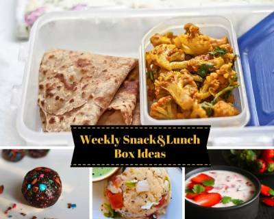 Weekly Snack & Lunch Box Ideas - From Mixed Sprout Coriander Dosa, Chocolate Chip Pancakes to Palak Dal and more