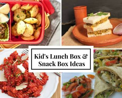 Lunch Box Recipes & Ideas from Masala mixed sprouts sandwich, Mushroom Biryani, Paneer Caesar Wraps and more