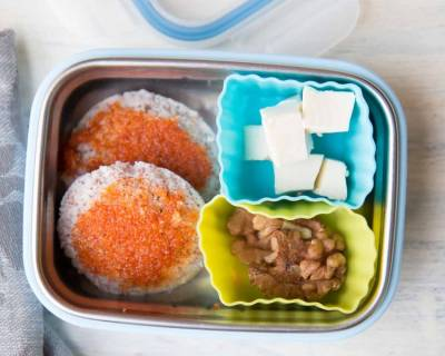 Ragi Idli Milagai Podi Walnuts & Cheese (Kids Lunch Box Recipes & Ideas)