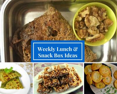 Weekly Lunch Box Recipes & Ideas from Paneer Dosa, Aloo masala Puri, Chinese spiced noodles cutlet & More