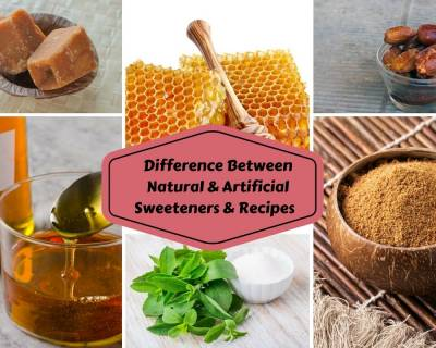 Difference Between Natural & Artificial Sweeteners & Recipes