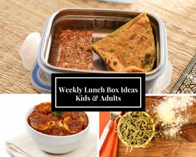 Weekly Lunch Box Recipes & Ideas from Tomato Rice, Egg Curry, Pesto Pasta and More
