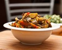 Stir Fried Mushrooms with Bell Peppers in Asian Sauce