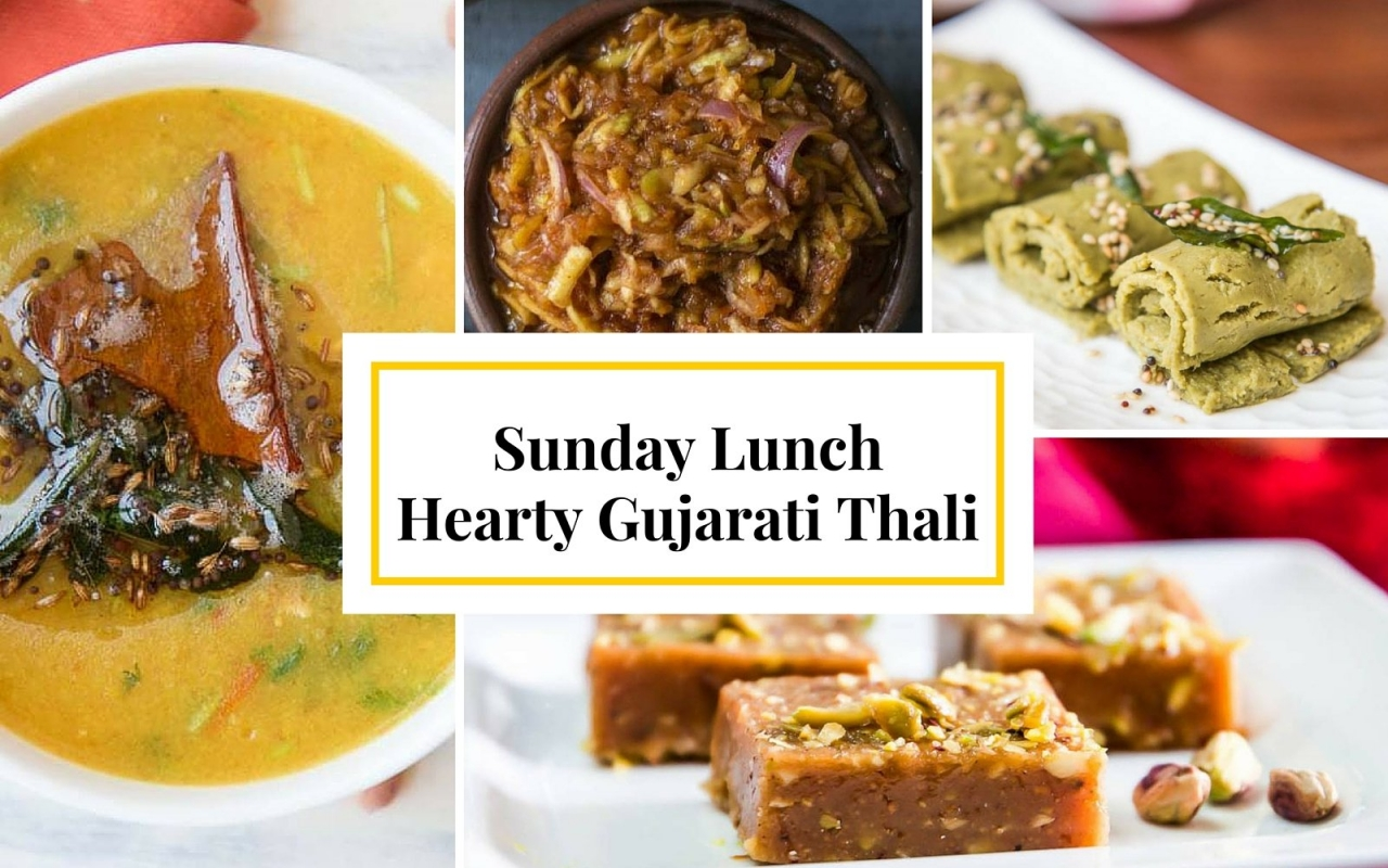 Lunch this sunday on a hearty gujarati thali by archanas kitchen forumfinder Gallery