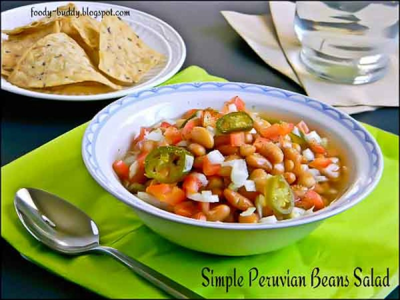 Simple Peruvian (Mayocoba) Beans Salad Recipe