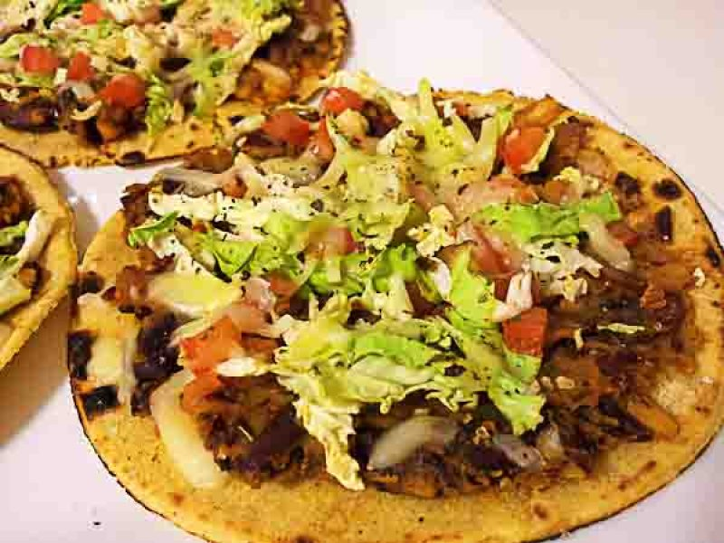 Tacozza - Tacos with Refried Beans and Oregano